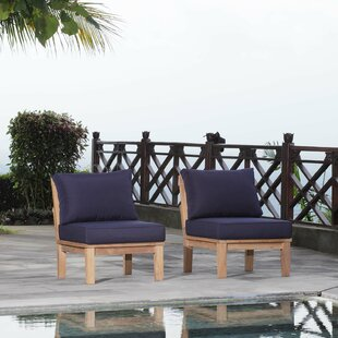 Cobb Outdoor Teak Patio Chair with Cushions (Set of 2)