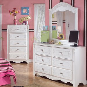 Emma 6 Drawer Double Dresser with Mirror by Viv + Rae