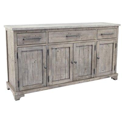 "Birch Lane Mcdougald 67"" Wide 3 Drawer Pine Wood Sideboard"