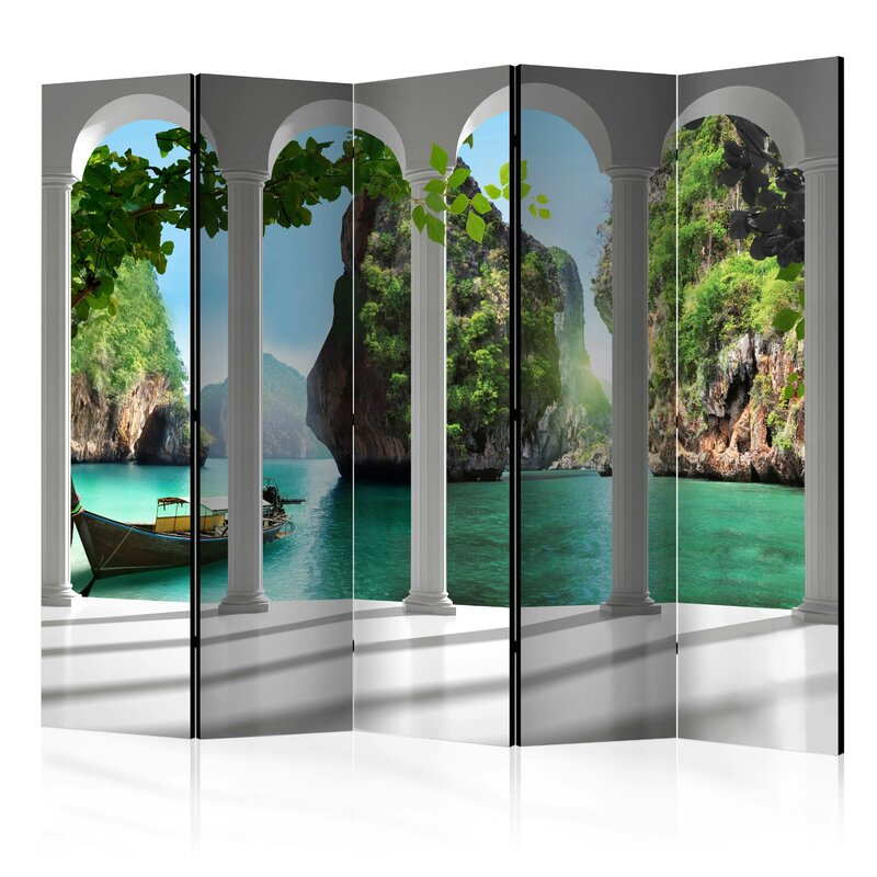 Bay Isle Home Stretford 5 Panel Room Divider | Wayfair.co.uk