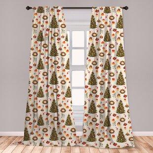 Poinsettia Curtains Wayfair