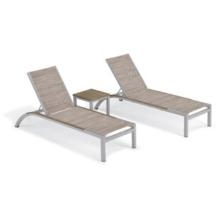 Saint-Pierre Reclining Chaise Lounge with Table