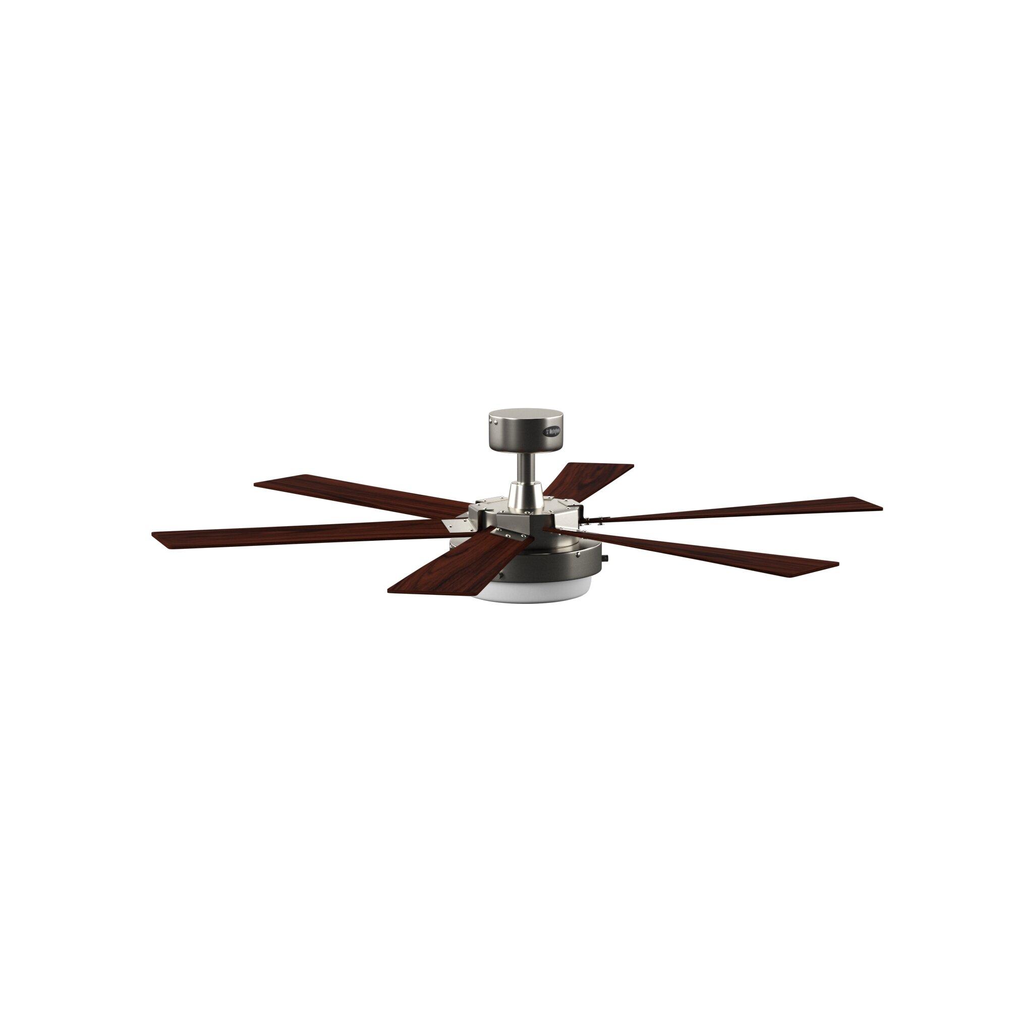 52 Corsa 6 Blade Led Ceiling Fan Light Kit Included Reviews Allmodern