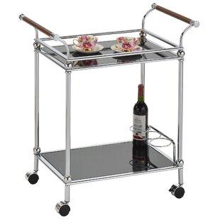 Tamra 2 Tier Glass Bar Cart by Wrought Studio