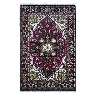 One-of-a-Kind Humes Hand-Woven Wool Red/Black/Beige Area Rug Isabelline