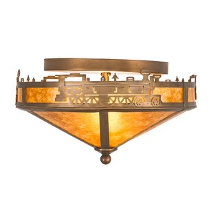 Meyda Tiffany Train 2-Light Flush Mount