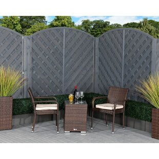 Roma 2 Seater Rattan Conversation Set By Rattan Direct