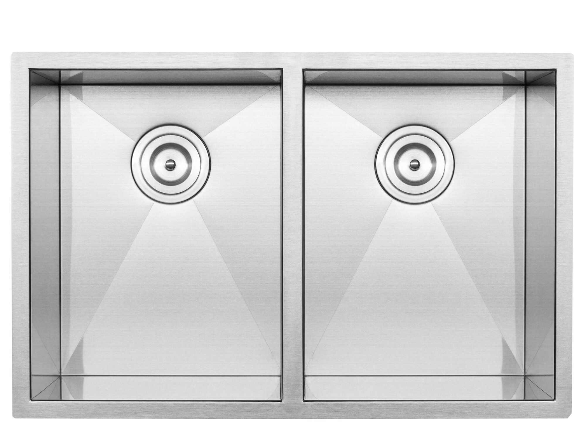 Ticor Sinks Pacific Series 16 Gauge Stainless Steel 29 L X 19 W Double Basin Undermount Kitchen Sink Wayfair