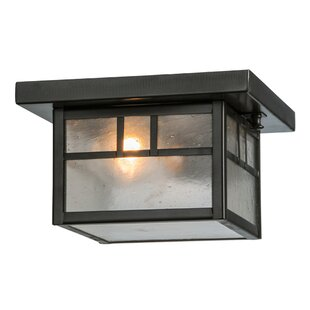 Meyda Tiffany Hyde Park Double Bar Mission 1-Light Flush Mount