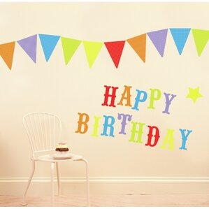 Happy Birthday Party Wall Decal