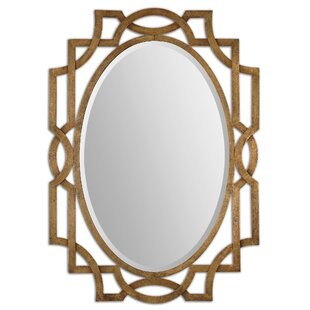 Gold Oval Accent Mirror
