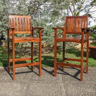 Mistana Caldwell Patio Bar Stool (Set of 2)
