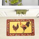 Chicken Rooster Kitchen Rug | Wayfair