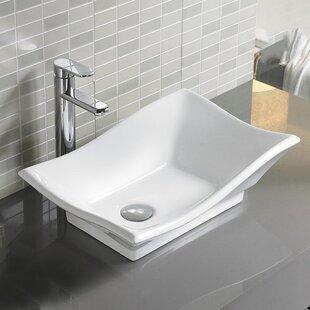 Vanitesse Ceramic Rectangular Vessel Bathroom Sink