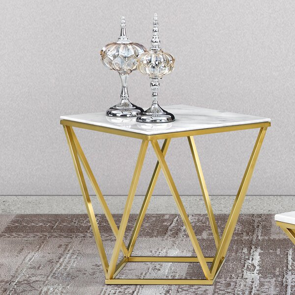 Willa Arlo Interiors Robeson Marble End Table & Reviews by Willa Arlo Interiors