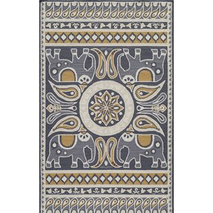 Aderdour Gold Indoor/Outdoor Area Rug