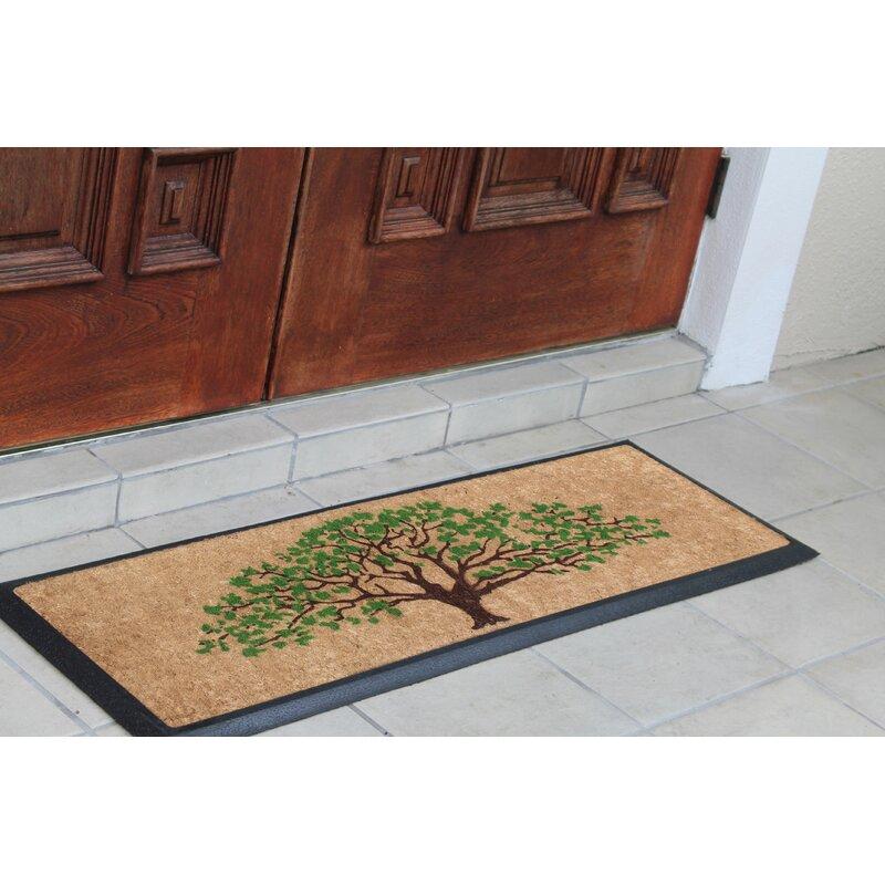 """27/"""" X 16/"""" Coir Fiber /& Rubber Tree of Life Anti-Slip Front Door Mat Doormat"""