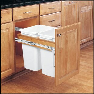 Double Top Mount 8.75 Gallon Pull Out/Under Counter Trash Can by Rev-A-Shelf