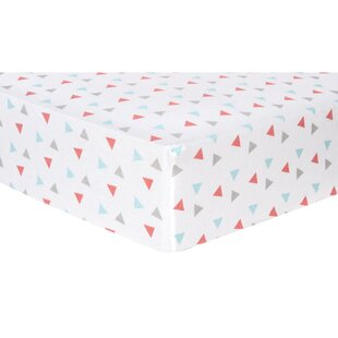 Shop For Triangles Deluxe Flannel Fitted Crib Sheet ByTrend Lab