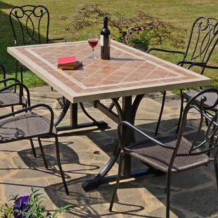 Kianna Ceramic/Steel Dining Table By Sol 72 Outdoor