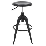 Homou Metal Adjustable Height Swivel Bar Stool (Set of 2) by Wrought Studio™