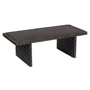 Cooper Rectangular Woven Coffee Table by Woodard Cheap