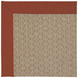 Lisle Machine Tufted Persimmon/Brown Indoor/Outdoor Area Rug