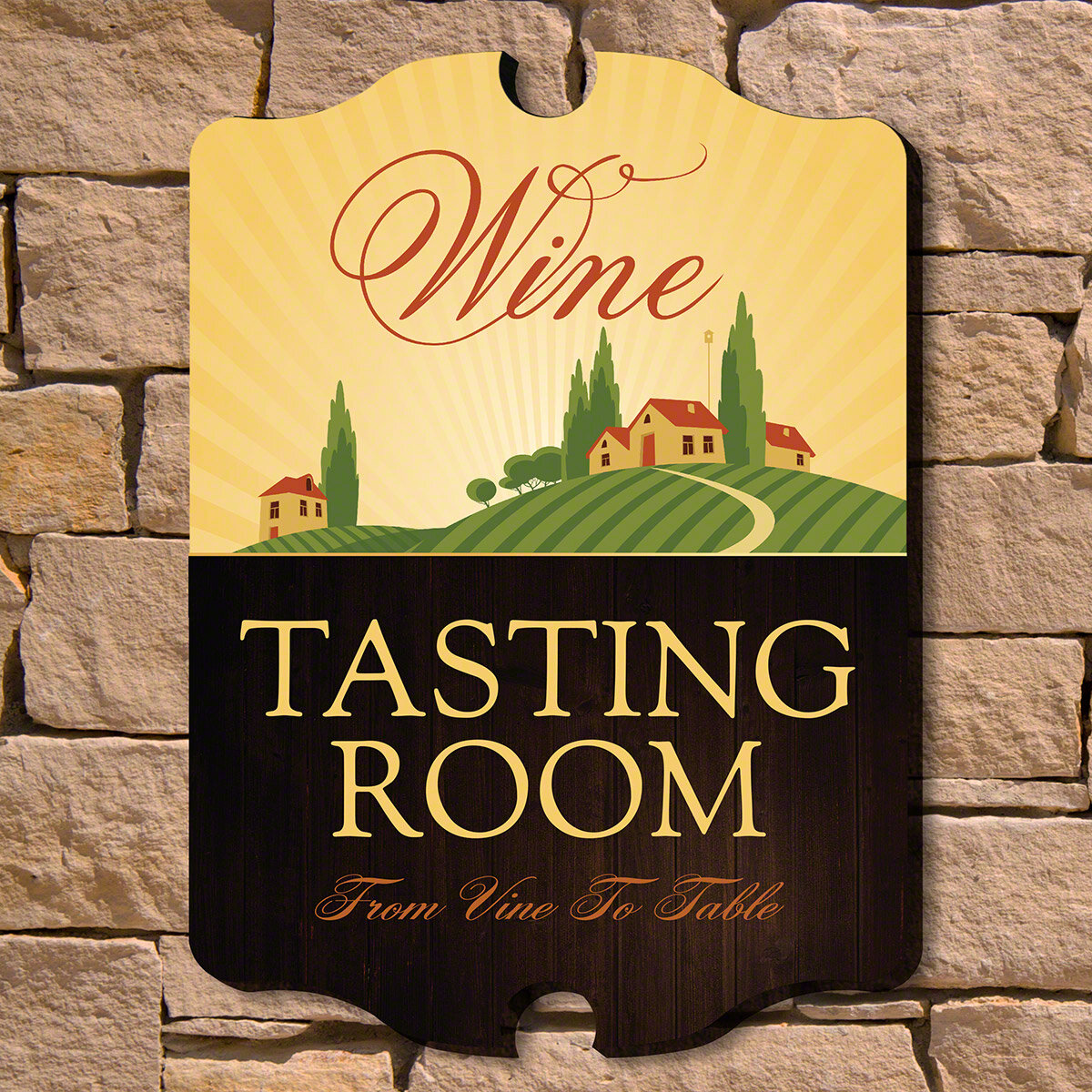 Home Wet Bar Tasting Room Wooden Wine Sign Wall Décor | Wayfair