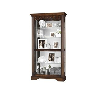 Astoria Grand Bogner Lighted Curio Cabinet