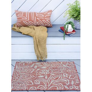 Koby Transitional Floral Terra Indoor/Outdoor Area Rug