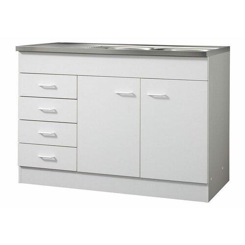 Küchenunterschrank ClearAmbient Farbe: Weiß| Größe: 120cm W x 50cm T | Küche und Esszimmer > Küchenschränke > Küchen-Unterschränke | ClearAmbient