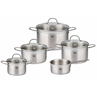 9 Piece 18/10 Stainless Steel Induction Cookware Set