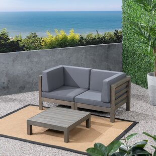 Seaham 3 Piece Teak Sofa Seating Group With Cushions By Brayden Studio