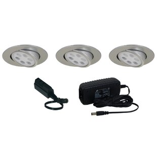 under cabinet recessed lighting. Slim Disk LED Under Cabinet Recessed Light Kit Lighting E
