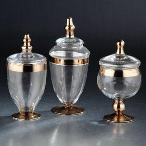 3 Piece Apothecary Jar Set