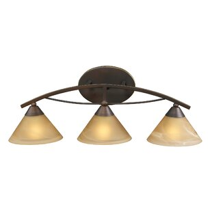 Comparison Beecroft 3-Light Glass Shade Vanity Light By World Menagerie