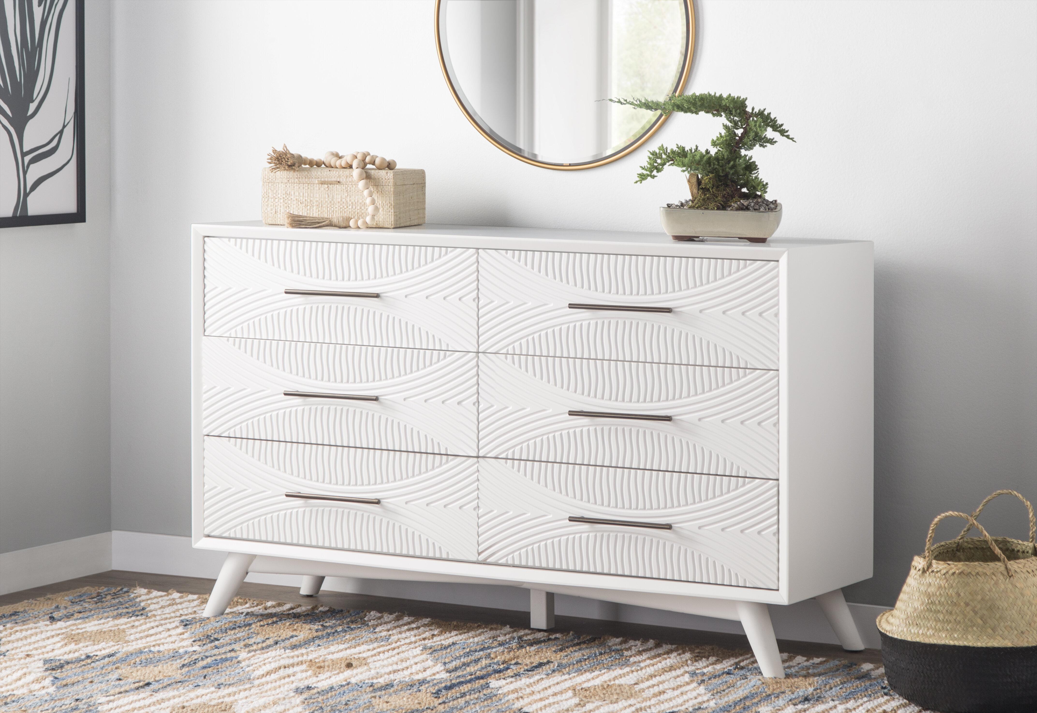 Allmodern Daria 6 Drawer Double Dresser
