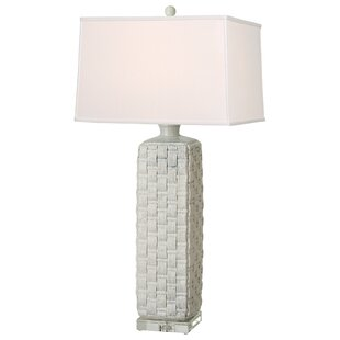 Lobdell Square Woven Vase 35 Table Lamp