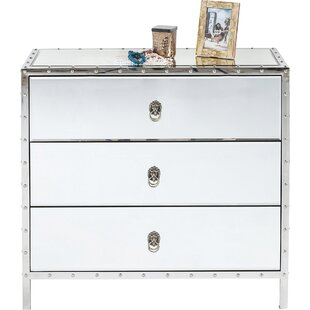 Rivet 3 Drawer Chest By KARE Design