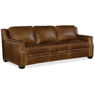 Yates Leather Sofa by Hook..