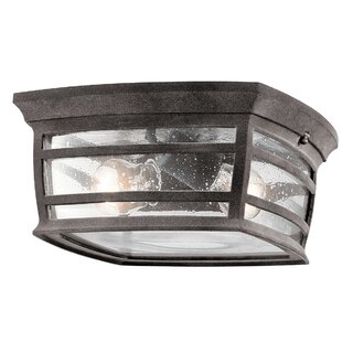 West Elk 2-Light Outdoor Flush Mount By Loon Peak Outdoor Lighting