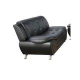 Esgerth 61 Wide Faux Leather Pillow Top Arm Modular Loveseat by Orren Ellis
