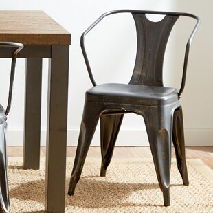 Mercury Row Industrial Arm Chairs (Set of 2)