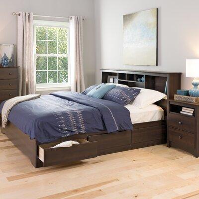 Oleanna Storage Platform Bed Zipcode Design? Color: Espresso, Size: King