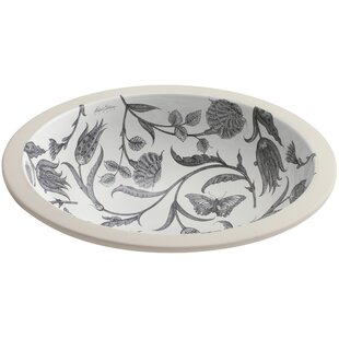Kohler Botanical Study Ceramic Circular Undermount Bathroom Sink