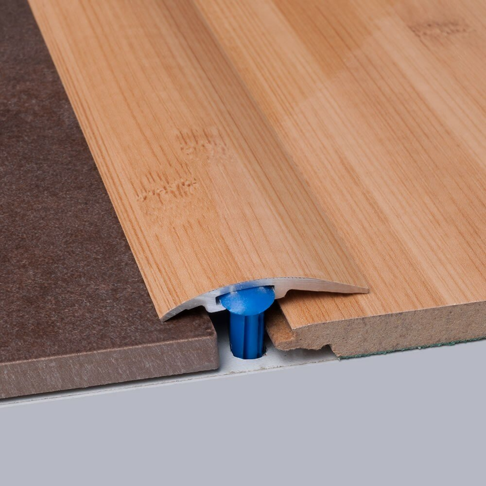 Elesgo Floor Usa Bamboo Metal 0 25 Thick X 1 5 Wide X 35 5 Length T Molding In Carbonized Wayfair
