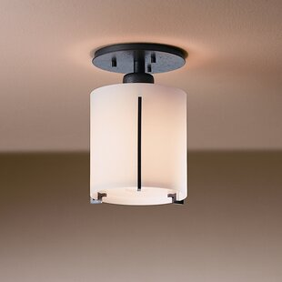 Exos Wave Small 1-Light Semi Flush Mount by Hubbardton Forge