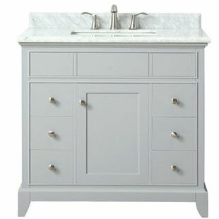Bhushan Marble Top 37 Single Bathroom Vanity Set by Red Barrel Studio