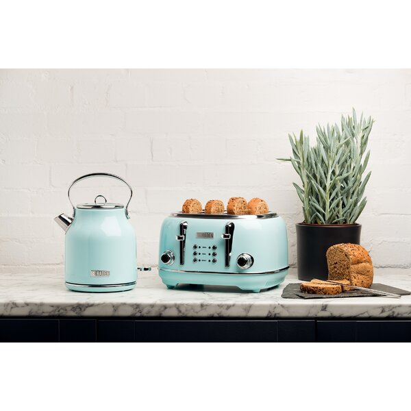 Brooklyn Navy and chrome Fast Boil Kettle /& Toaster 4 slot Set