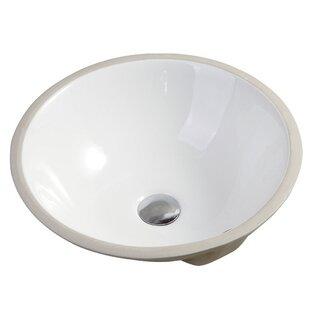 Online Reviews Nerida Ceramic Circular Vessel Bathroom Sink with Overflow By Safavieh
